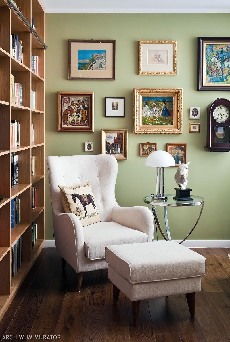 Oliwkowa zieleń: kolory wnętrza domu