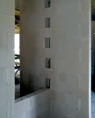 Stabiliazcja cienkich ścian działowych
