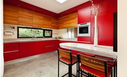 Czerwona kuchnia - ogniste ściany, meble kuchenne i dodatki. Galeria zdjęć kuchni w czerwieni