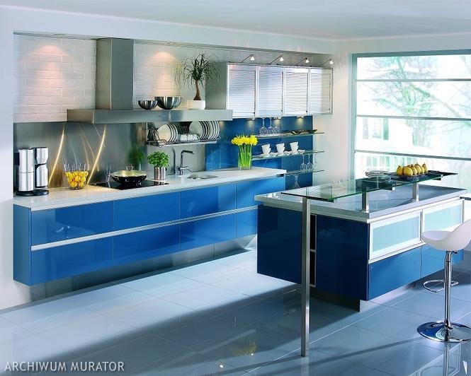 Fronty kuchenne - niebieska kuchnia