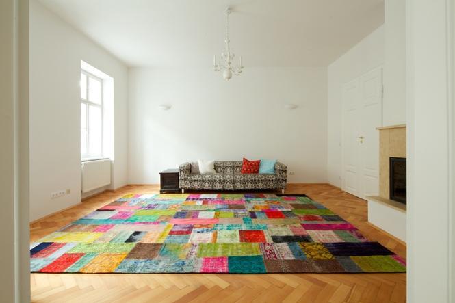Patchwork w aranżacji wnętrz: dywan
