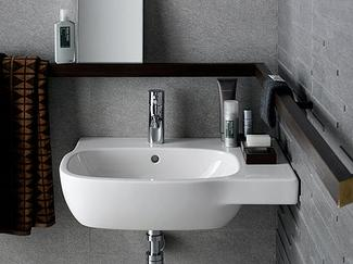 Mała łazienka - biała umywalka
